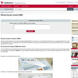 Recherche de livres par numéro ISBN sur AbeBooks
