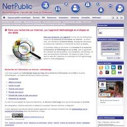 Faire une recherche sur Internet, ça s'apprend! Méthodologie en 6 étapes et site dédié