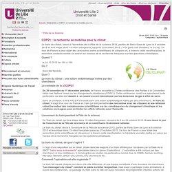Université Lille2 _ COP21 : la recherche se mobilise pour le climat