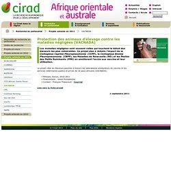 CIRAD 24/08/11 Protection des animaux d'élevage contre les maladies négligées (VACNADA)