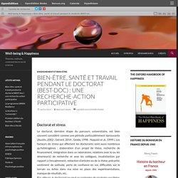 Bien-être, santé et travail pendant le doctorat (BEST-doc) : une recherche-action participative