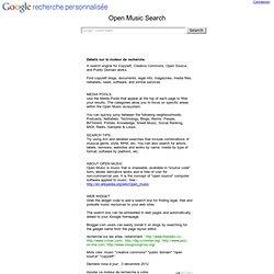 Anpassad sökning - Open Music Search