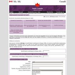 Recherche de produits pharmaceutiques en ligne