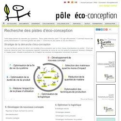 Recherche des pistes d'éco-conception