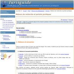 Moteurs de recherche et portails juridiques