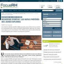 Recherche d'emploi : les outils préférés des jeunes diplômés - Recrutement des jeunes diplômés - Focus RH