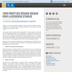 Tirer profit des réseaux sociaux pour la recherche d'emploi