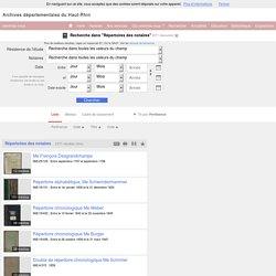 Recherche : Répertoires des notaires - Mnesys