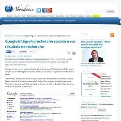 Google intègre la recherche sociale à ses résultats de recherche