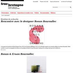 Actualités Ronan Bouroullec