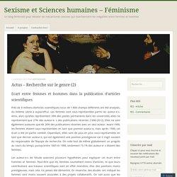 Actus – Recherche sur le genre (2)