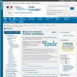 Moteur de recherche d'articles scientifiques — Enseigner avec le numérique