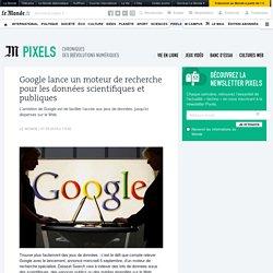 Google lance un moteur de recherche pour les données scientifiques et publiques