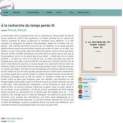 À la recherche du temps perdu XI - Proust, Marcel - Télécharger