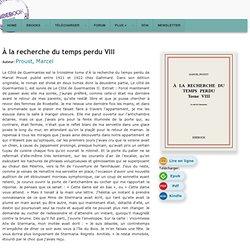 À la recherche du temps perdu VIII - Proust, Marcel - Télécharger