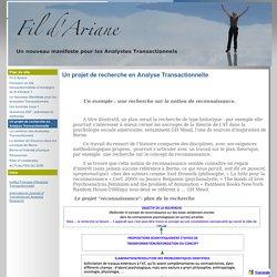 Un projet de recherche en Analyse Transactionnelle - FIL D'ARIANE