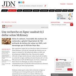 Une recherche en ligne vaudrait 0,5 dollar selon McKinsey