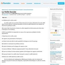 La Veille Sociale - Recherche de Documents - zakaria2011