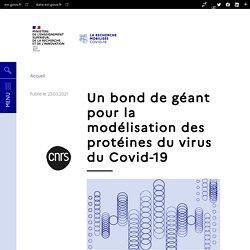 Un bond de géant pour la modélisation des protéines du virus du Covid-19 / Recherchecovid.enseignementsup-recherche.gouv.fr, mars 2021