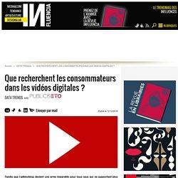 Que recherchent les consommateurs dans les vidéos digitales ?