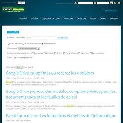Tice Education : Le premier portail de l'éducation numérique - Tice, TBI, supports de cours - Recherche