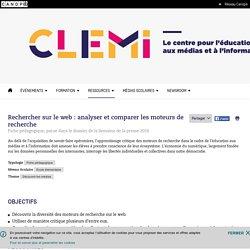 Rechercher sur le web : analyser et comparer les moteurs de recherche- CLEMI