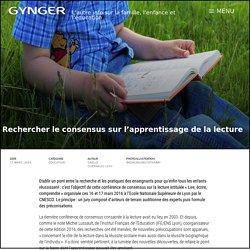 Rechercher le consensus sur l'apprentissage de la lecture – Gynger