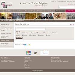 Rechercher sur le site - Archives de l'État en Belgique