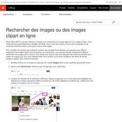 Rechercher des images ou des images clipart en ligne