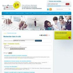 Rechercher - Institut Fédératif des Addictions Comportementales