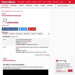 Rechercher : Définition du verbe simple et facile du dictionnaire