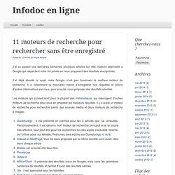 11 moteurs de recherche pour rechercher sans être enregistré