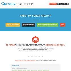 Rechercher wicca-france.forumgratuit.fr