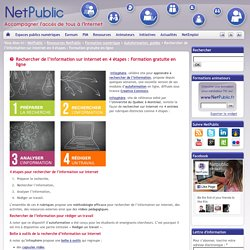 Rechercher de l'information sur Internet en 4 étapes : Formation gratuite en ligne