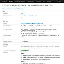 30- Rechercher sur internet : Evaluation de l'information (3ème)