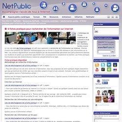 6 fiches pratiques pour rechercher de l'information sur Internet