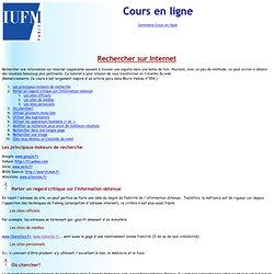 Rechercher sur internet - cours en ligne