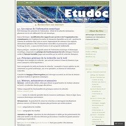 4. Rechercher sur internet « Etudoc's Weblog