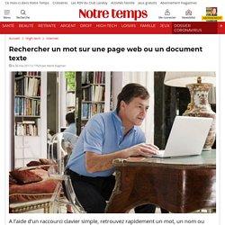 Rechercher un mot sur une page web ou un document texte