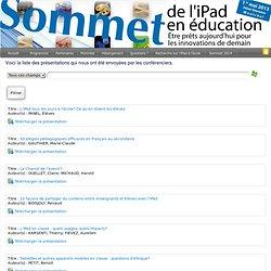 Sommet de l'iPad en éducation : Rechercher dans les présentations