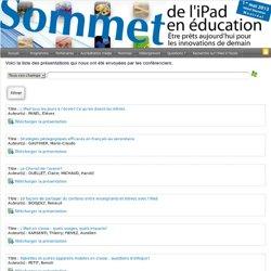 Sommet de l'iPad en éducation