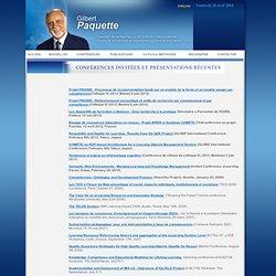 Gilbert Paquette - Directeur de recherches LICEF-CIRTA, Télé-université - Chaire de recherches en ingénierie cognitive et éducat > CONFÉRENCES - Nightly