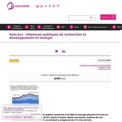 Actu.éco : Dépenses publiques de recherches et développement en énergie