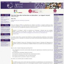 Etat des lieux des recherches en éducation : un rapport récent