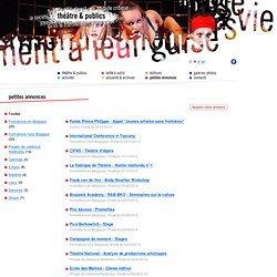 Théâtre & Publics - Centre de recherches, de pratiques et de formations théâtrales