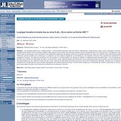 Cahiers d'études et de recherches francophones / Santé . Volume 17, Numéro 1, 3-10, Janvier-Février-Mars 2007, Mise au point / L