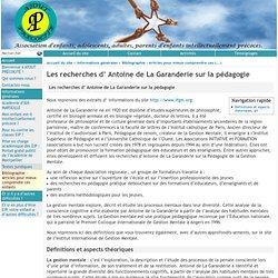 Les recherches d' Antoine de La Garanderie sur la pédagogie - [atout-précocité.fr]