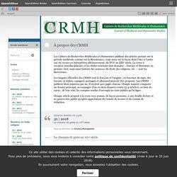 Cahiers de recherches médiévales et humanistes - Journal of medieval and humanistic studies