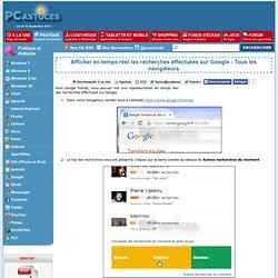 Afficher en temps réel les recherches effectuées sur Google - Tous les navigateurs