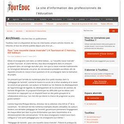 """Pour """"une nouvelle classe inversée"""" ( A Taurisson et C Herviou, ESF Editeur) - Recherches et publications - Archives"""